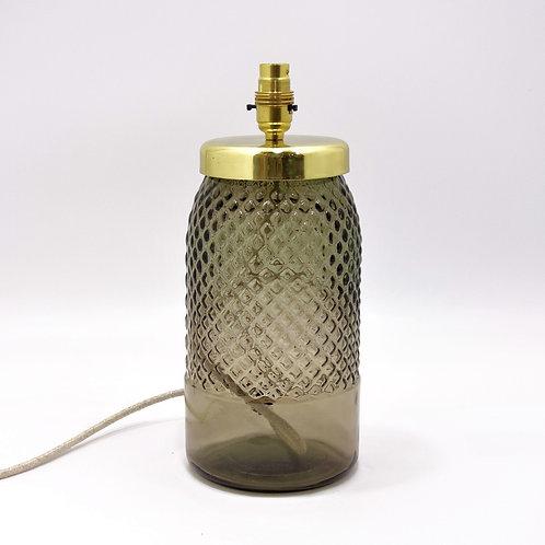 Recycled glass diamond Lamp grey