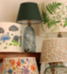 Hand finished lampshades
