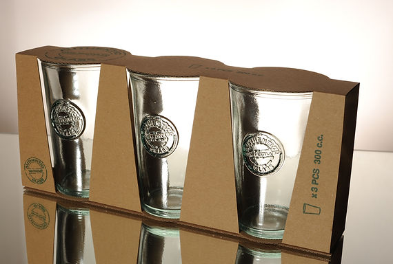 "Recycled Glass Tumbler | 300ml ""Authentic"" 