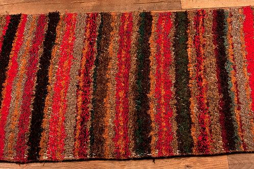 recycled cotton rug autumn stripe