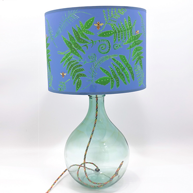 Recycled Glass Table Lamp with Choice of Flex | 49cm Natural Recycled