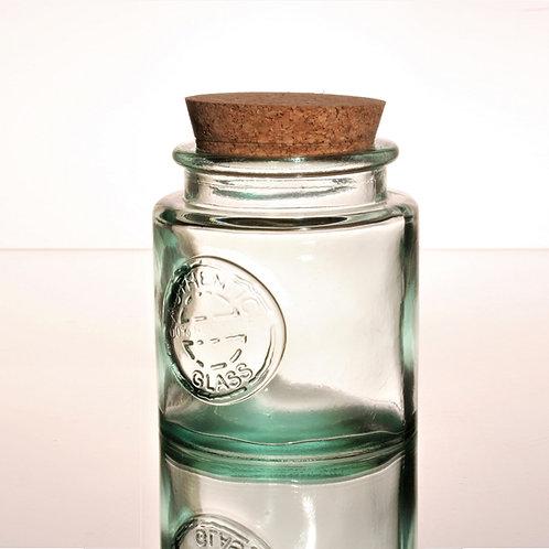 recycled glass storage jar