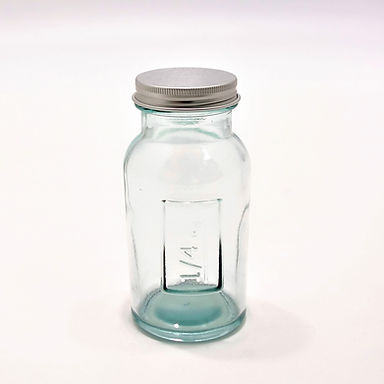 Recycled Glass Storage Jar  | 250ml  |  Set of 3 with a Screw Top Lid