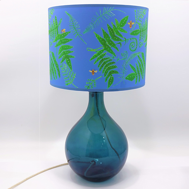 Recycled Glass Table Lamp with Choice of Flex | 49cm Petrol Blue