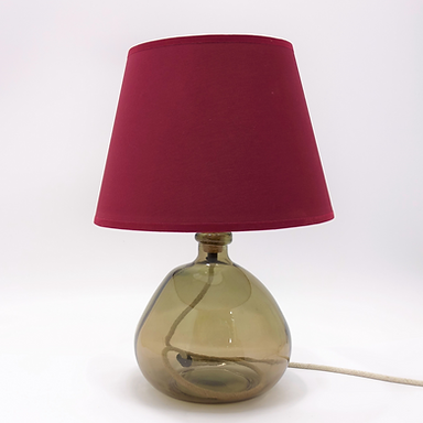 Recycled Blown Glass Table Lamp with Choice of Flex | 29cm Smoke Grey