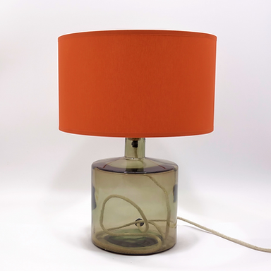 Recycled Glass Table Lamp with Choice of Flex | 32cm Smoke