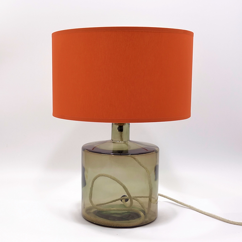 Recycled glass Frances Lamp grey shade