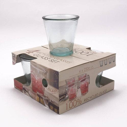 Recycled glass 250ml tumbler giftbox