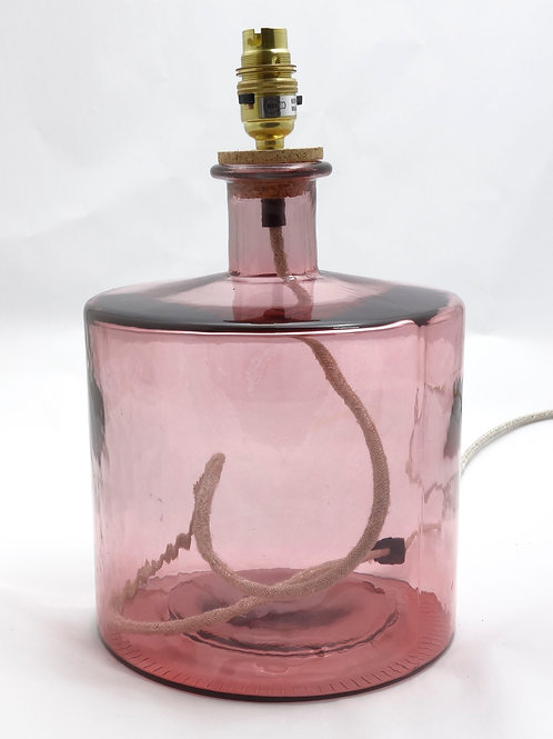 Recycled glass Frances Lamp small pink