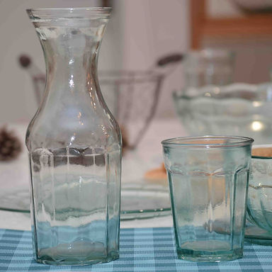 """Recycled Glass Carafe  