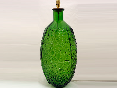 Recycled glass Jungla bottle lamp