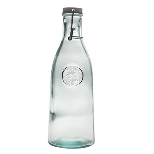 Recycled glass 1l Authentic bottle with a clip top