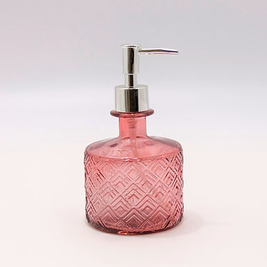"Recycled Glass Soap Dispenser   350ml Embossed   ""Nihon"""