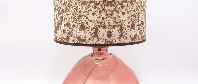 Recycled Blown Glass Table Lamp with Choice of Flex | 39cm Pink
