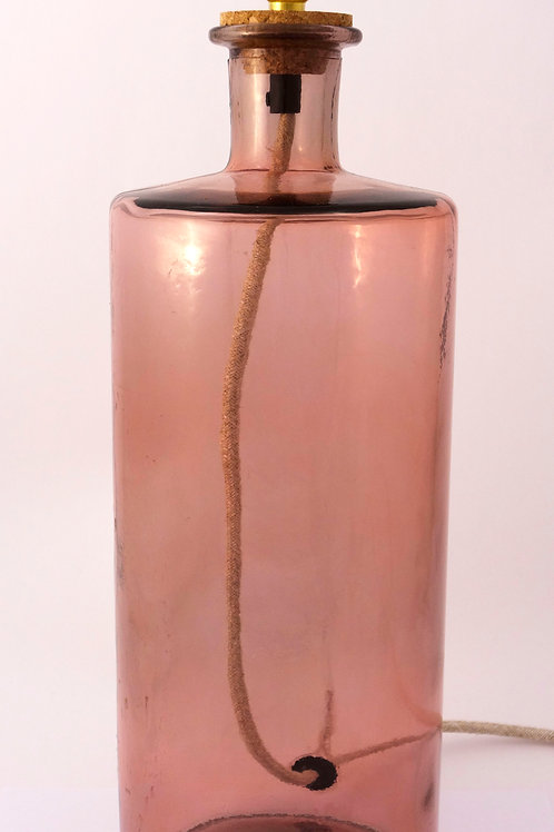 """Recycled Glass Table Lamp   46cm Pink    """"Frances"""""""