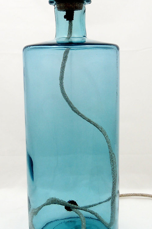 "Recycled Glass Table Lamp | 46cm Light Blue | ""Frances"""