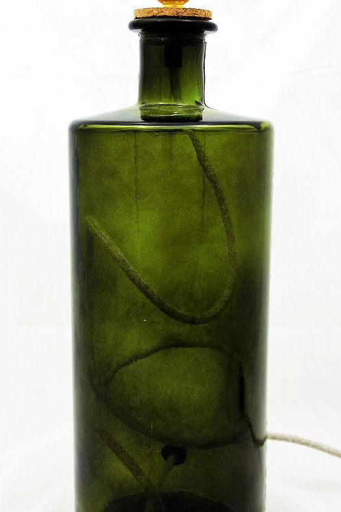 "Recycled Glass Table Lamp | 46cm Olive Green | ""Frances"""
