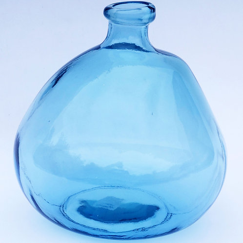 Recycled glass 23cm Simplicity Vase light blue