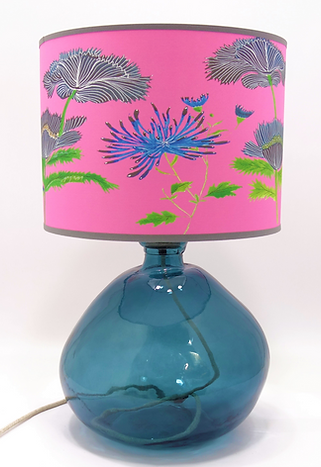 Recycled Blown Glass Table Lamp with Choice of Flex | 39cm Petrol Blue