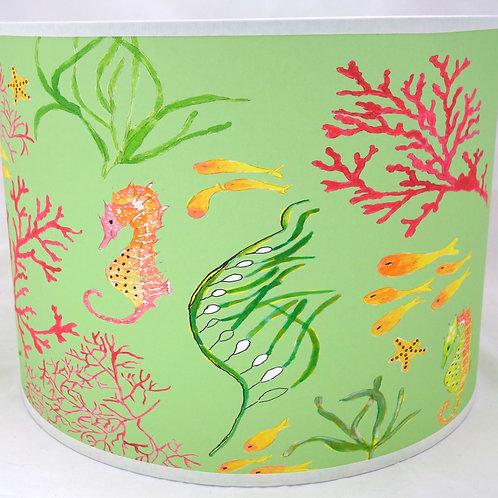 Seahorse lampshade green