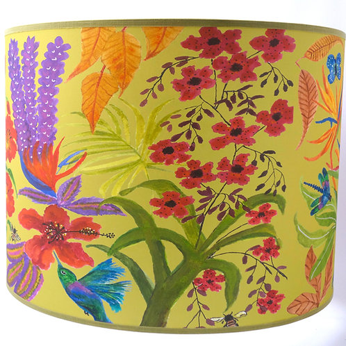 Bright flowers lampshade yellow