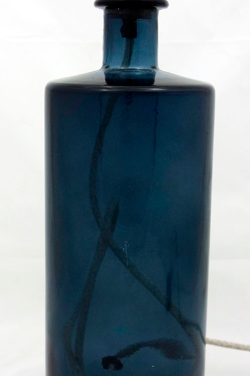 "Recycled Glass Table Lamp | 46cm Petrol Blue  | ""Frances"""