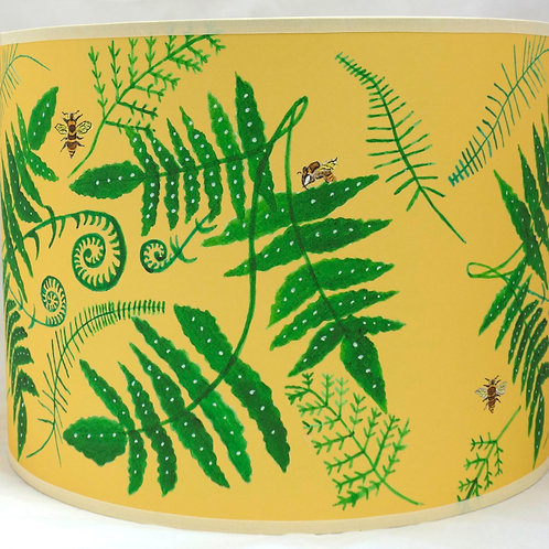 Fern and Bee lampshade orange
