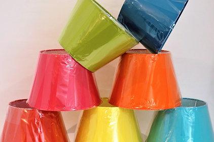 """Handmade Coloured Fabric Retro Shade 20"""""""