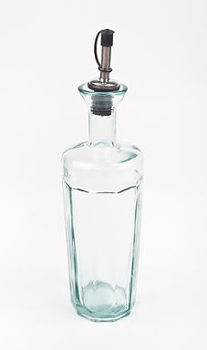 Recycled Glass Oil Bottle  |  500ml  |  With Metal Pourer