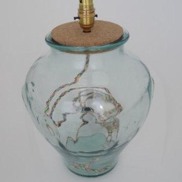 Recycled glass Mielera lamp