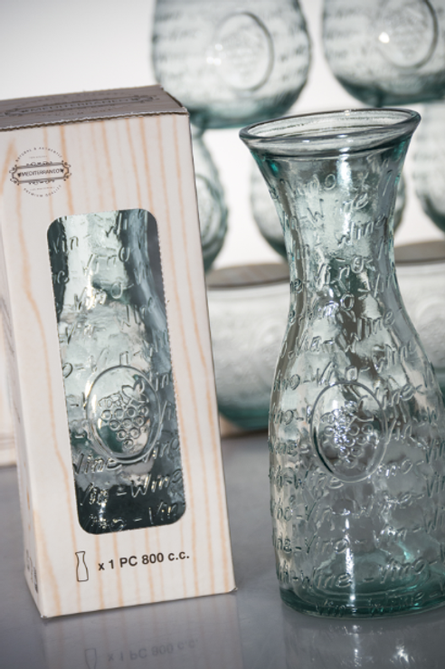 "Recycled Glass Carafe  |  800ml ""Vino""  