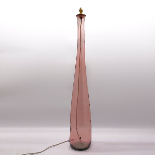 recycled glass floor lamp pink