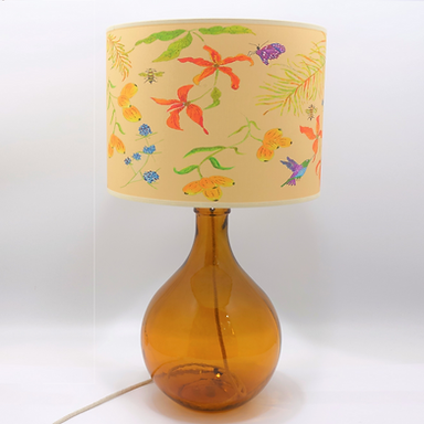 Recycled Glass Table Lamp with Choice of Flex | 49cm Amber
