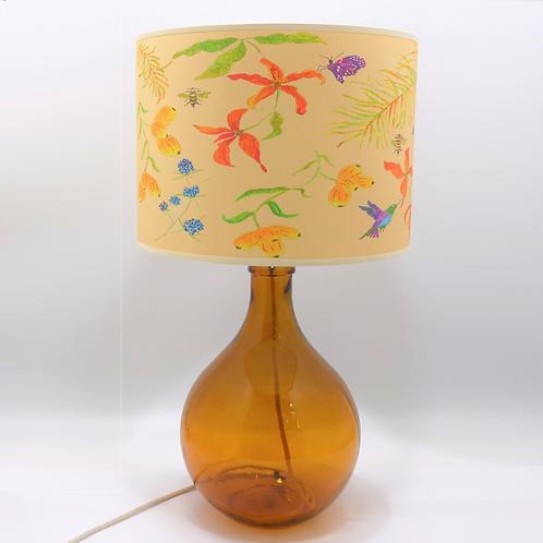 recycled glass bottle vase amber