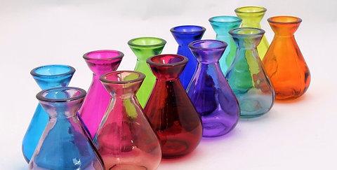 11cm Recycled Glass Bud Vase (24/case)