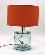 Recycled Glass Table Lamp with Choice of Flex | 32cm Natural Recycled / Clear