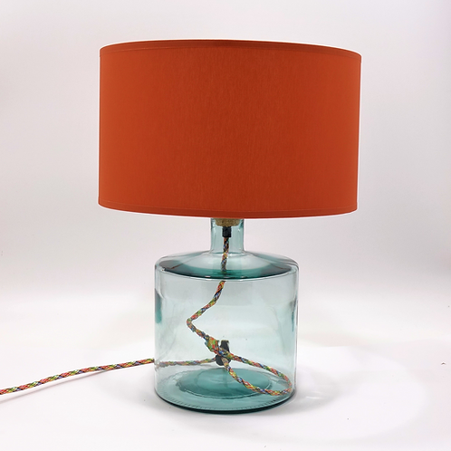 Recycled glass Frances Lamp small