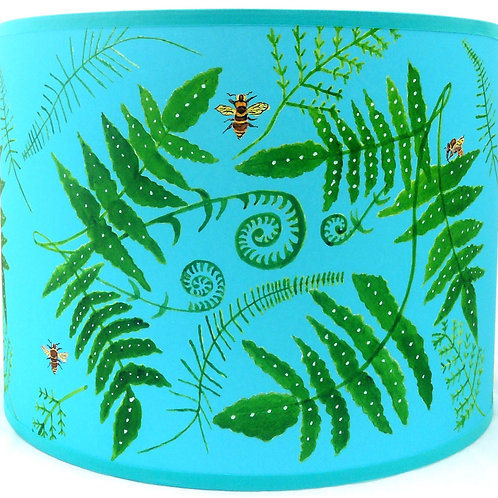 Fern and Bees Shade Turquoise