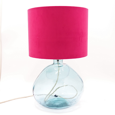 Recycled Blown Glass Table Lamp with choice of Flex | 39cm Natural Recycled