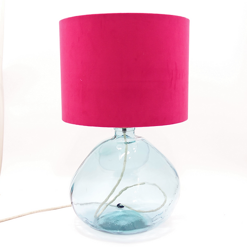 recycled glass bottle lamp clear