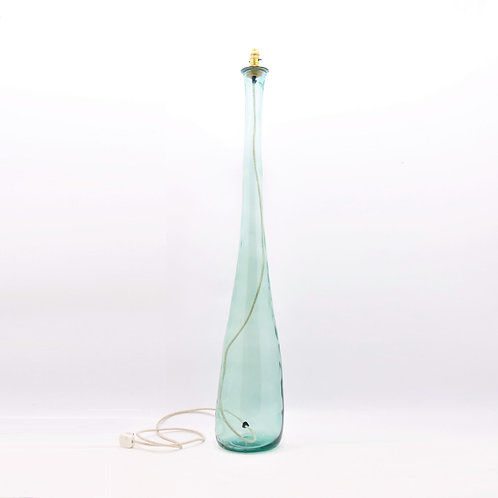 recycled glass floor lamp clear