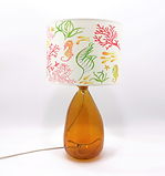 Recycled Blown Glass Table Lamp with Choice of Flex | 42cm Amber