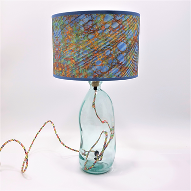 Recycled Blown Glass Table Lamp with Choice of Flex | 41cm Clear