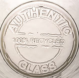 100% recycled glassware
