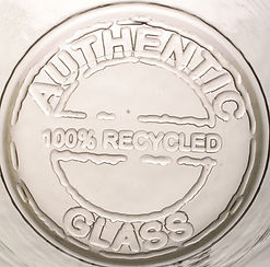 authentic recycled glassware stamp
