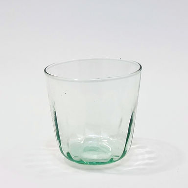 Recycled Glass Fluted Tumbler   Clear   Set