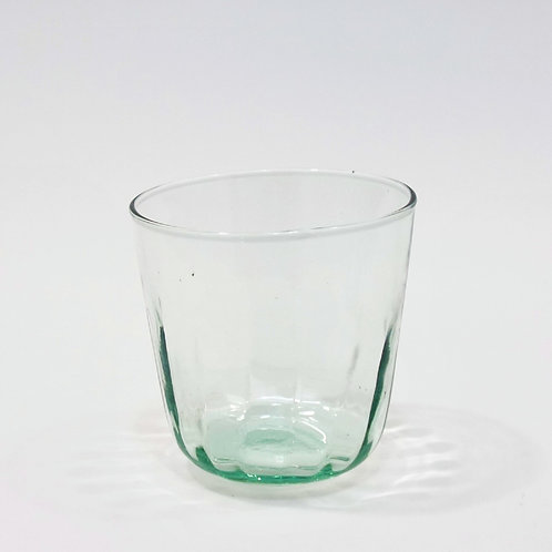 Recycled Glass Fluted Tumbler | Clear | Set