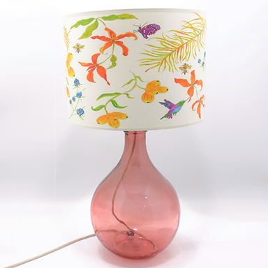 Recycled Glass Table Lamp with Choice of Flex | 49cm Pink