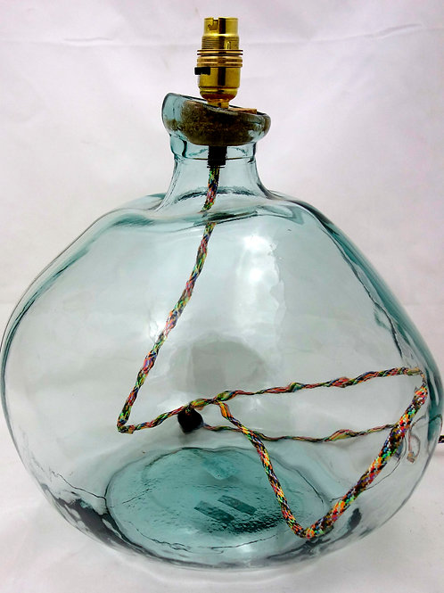 Recycled Glass Table Lamp | 39cm Natural Recycled | Blown Glass