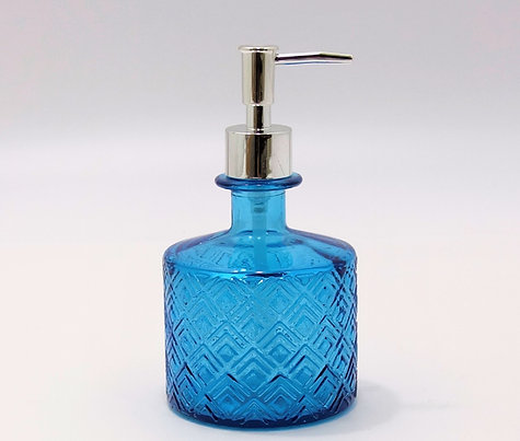 "Recycled Glass Soap Dispenser | 350ml Embossed | ""Nihon"""